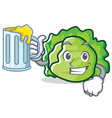 with lettuce character mascot style vector image