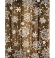 Wooden christmas background with snowflakes vector image