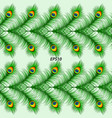 seamless peacock feather pattern vector image
