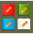 Set of simple icons pencil orange eps vector image