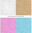 set of texture of pink blue brown white crumpled vector image