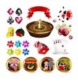 Big Set of Casino Gambling Elements vector image