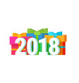2018 happy new year calendar christmass text for vector image