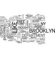 a tree grows in brooklyn ny text word cloud vector image vector image