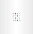 abstract red green square vector image