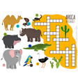 african animals crossword vector image