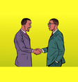 african businessmen men handshake vector image vector image