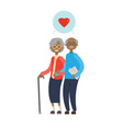 african grandparents couple in love full length vector image vector image