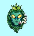 Alien dreadlock king weed smoke