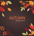 autumn leaves stylized background seasonal vector image