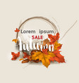 Autumn sale layout decorate for web and banner