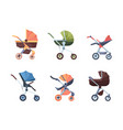 baby carriage cute transport for new born vector image