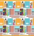 back to school pattern with notebooks and pens vector image vector image