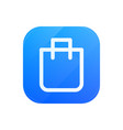 bag glossy flat icon pack symbol vector image vector image