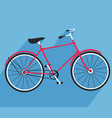 bicycle made in flat style bike icon vector image