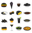 black food blackish cooking meal with vector image