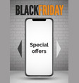 black friday smartphone special offers realistic vector image vector image