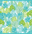 blue green tropical leaves summer hawaiian vector image vector image