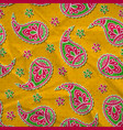 bright pattern with paisley vector image