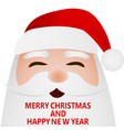 cartoon funny santa claus waving hand on white vector image vector image