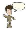 cartoon worried man giving thumbs up symbol with vector image vector image