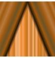 Cinema Closed Orange Curtain vector image vector image