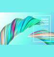 color paint wave twist abstract background vector image vector image