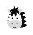cute little zebra animal character vector image vector image