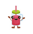 cute smoothie cartoon character with smiling face vector image