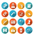 Detective Icons Set vector image vector image