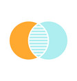 discrete maths glyph color icon vector image vector image