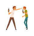 drunk men with bottles of alcohol drink male vector image vector image