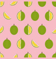 durian with cut pieces seamless pattern vector image vector image