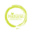 eco labels with sketch drawing design elements vector image