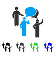 engineer persons forum flat icon vector image vector image