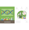flat genetic research composition vector image vector image