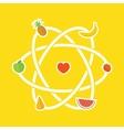 Fruit detox scheme vector image