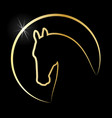 gold horse vector image