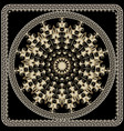greek ornamental round mandala pattern floral vector image vector image