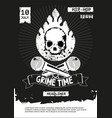 grime hip-hop party rap festival banner vector image vector image