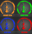 Hookah icon Fashionable modern style In the orange vector image