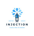 injection vaccine logo icon vector image