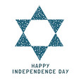 israel independence day holiday flat design icon vector image