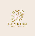 key ring real estate abstract contemporary minimal vector image vector image
