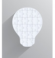light bulb with pieces puzzles creative design vector image vector image