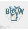 Local Brew Emblem Template Beer Mug vector image vector image