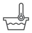 low temperature line icon indicator and wash vector image