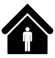 Man Toilet Building Flat Icon vector image