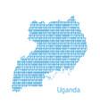 map uganda vector image vector image