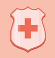 medical shield icon vector image vector image
